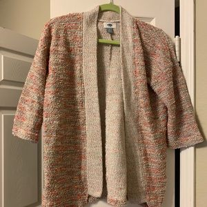 Pick three-quarter sleeve cardigan